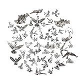 【ノーブランド品】鳥 スタイル  ペンダント DIY 素材 材料 飾り チャーム 混合文字 ネックレス