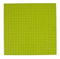 Classic Baseplates 10 x 10 Stackable Brick Base Plate by Strictly Briks | 100% Compatible with All Major Brands | Baseplate for Building Towers Tables & More | 1 Lime Green Baseplate 【You&Me】 [並行輸入品]
