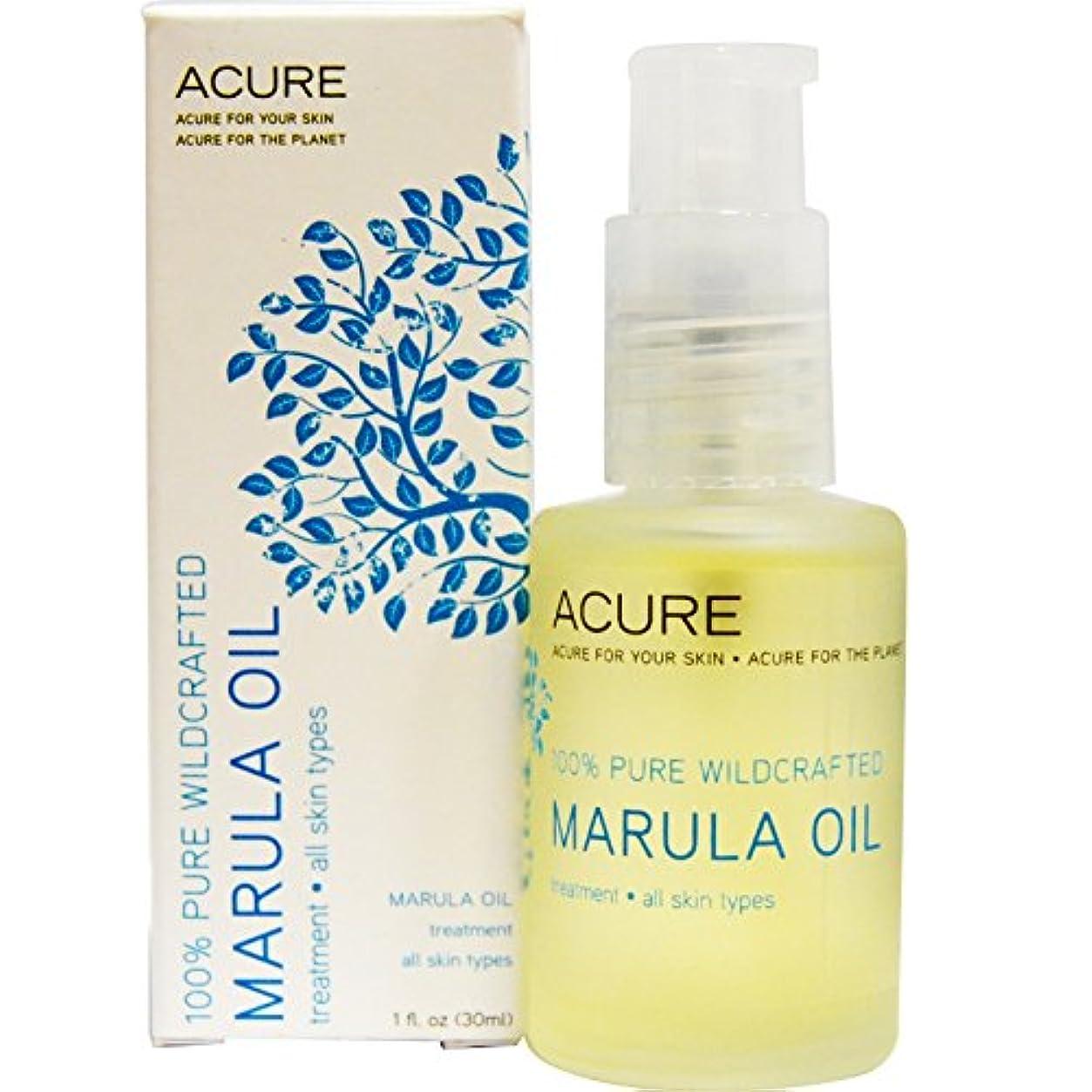 タービン露出度の高いそばにAcure Organics, Marula Oil, ジ?エッセンシャルズ、マルーラオイル 1 oz (30 ml)