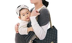 コニー ぐっすり 抱っこひも シンプル ビップシート ベビーキャリア スリング シンプル 軽い 軽量 コンパクト お出かけ 楽な 簡単 安全 抱っこ紐 (チャコルグレー) (S)