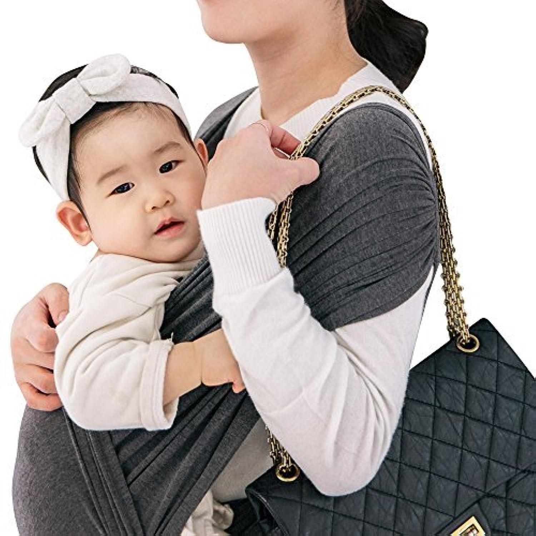 コニー ぐっすり 抱っこひも シンプル ビップシート ベビーキャリア スリング シンプル 軽い 軽量 コンパクト お出かけ 楽な 簡単 安全 抱っこ紐 (チャコルグレー) (XL)
