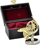 SUNRISE SOUND HOUSE サンライズサウンドハウス ミニチュア楽器 フレンチホルン 1/12 ゴールド