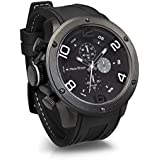 [フランテンプス]Franc Temps 腕時計 ガヴァルニ クロノグラフ (ホワイト) 黒文字盤 10気圧 防水 クオーツ FTGC-WH メンズ