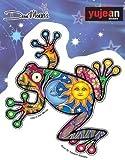 "Night Day Frog - Dan Morris, Waterproof Vinyl Sticker DECAL for Car Bumper Skateboard Laptop Luggage - 4.5"" x 4.2"""