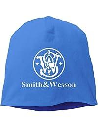 NINKI スミス&ウェッソン 銃器メーカー 戦争 アイコン 大人 ヘッジキャップ ヒップホップ スポーツウェア 男女兼用 ブルー One Size