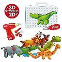 Maxxrace 組み立て 動物 おもちゃDIY おもちゃ3D建物の動物 恐竜 ゾウ クマ エルク ワニ ライオン シマウマ 知育玩具 立体パズル 子供 遊び 想像力創造力を育てる 教育 学習 モデル おもちゃ 分解おもちゃ ボルトを締め付け 誕生日プレゼント 人気 贈り物