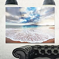 """デザインアートmt10539–20–12海& Shoreメタル壁アート 20x12"""" MT10539-20-12"""