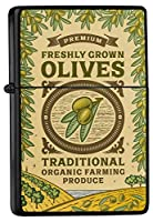 Pocket Windproof lighter ライター Brushed Oil Refillable Olives