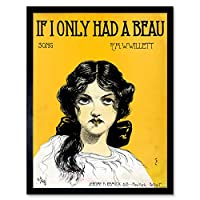 Takacs If I Only Had Beau Sheet Music Cover Artwork Art Print Framed Poster Wall Decor 12x16 inch 音楽カバーポスター壁デコ