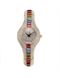 レディースカラフルな宝石Quartz WatchesビジネスファッションJewels Wrist Watches Colorful Stones