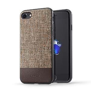 【iPhone 7専用設計】 Anker SlimShell Bright iPhone 7用 超軽量 ファブリック保護ケース (ブラウン)
