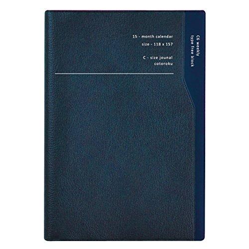 ラ・アプス 手帳 2018 11月始まり ウィークリー C6 スラント ネイビー BG-5222