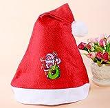 (デマ―クト)De.Markt クリスマス帽子シリーズ コスチューム用小物 サンタさんの帽子12枚セット 大人用(パターンランダム)