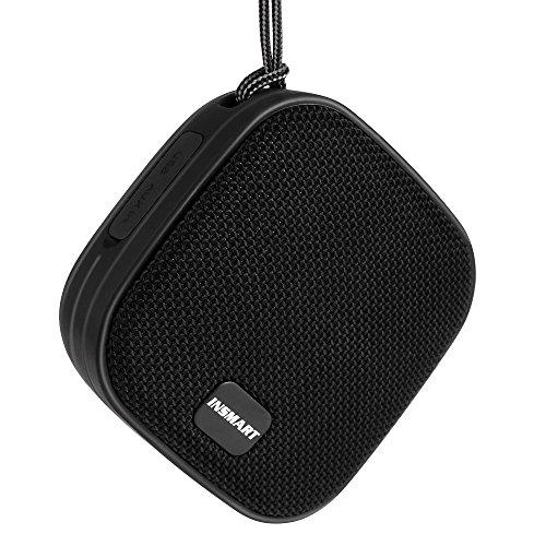 [해외]INSMART Bluetooth 스피커 무선 스테레오 스피커 IPX7 방수 스피커 빨판있는 Bluetooth 4.0 8W 저음 강화 12 시간 연속 재생 내장 마이크 스마트 폰 | 태블릿 | 등 대응 18 개월 보증 (블랙)/INSMART Bluetooth Speaker Wireless Stereo Speaker IPX...