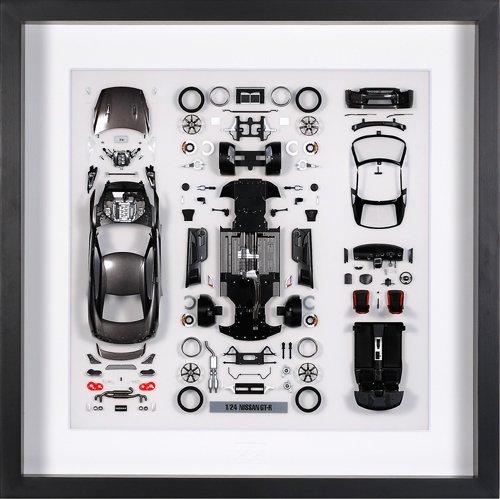 パーツパネルコレクション No.10 1/24 NISSAN GT-R ダークメタルグレー パーツパネル