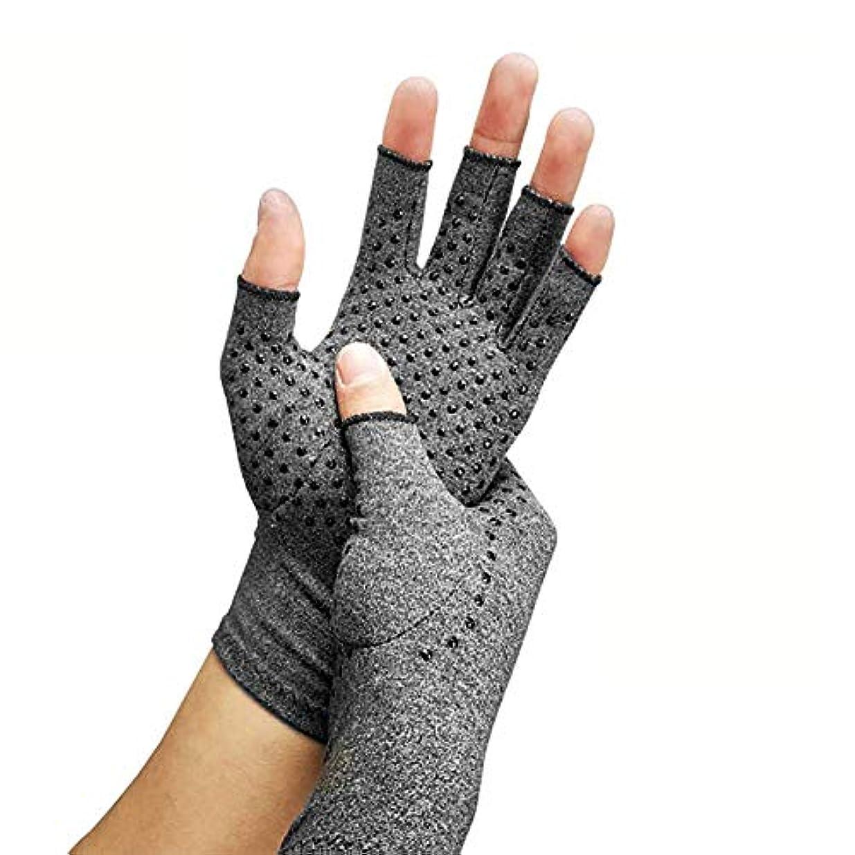 怒っている物理タール圧縮関節炎手袋、関節リウマチおよび変形性関節症用の指なし手手袋-関節痛および心皮トンネルのリリーフ-男性および女性