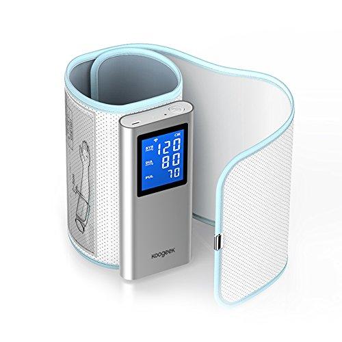 Koogeek FDA認証 スマート血圧計(上腕式) 自動血圧計 WIFIとワイヤレスBluetoothをサポート 心拍検測Appをダウンロード使用IOSとAndroidデバイスに対応 充電式 16 ユーザー