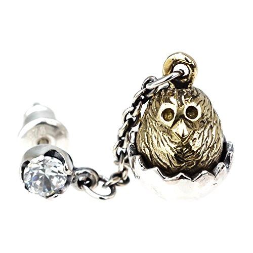 ジナブリング (JINA BRING) シルバーピアス シルバー925 真鍮 ジルコニア ゴールド ひよこがキュート ひよこ 卵 ピアス 片耳販売 メンズ レディース