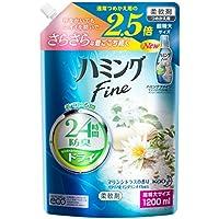 【大容量】ハミングファイン 柔軟剤 マリンシトラスの香り 詰替用 1200ml