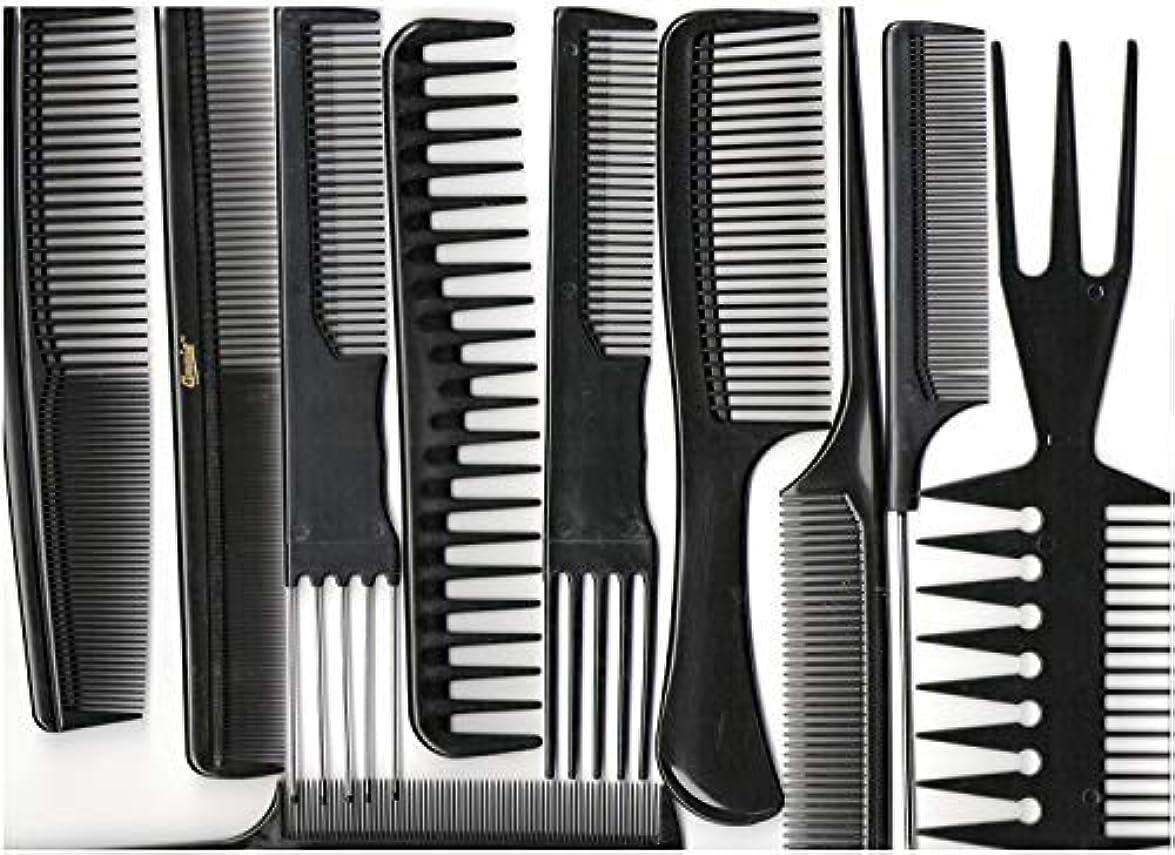 棚カンガルーメカニックAnnie Professional Comb Set 10Ct Black [並行輸入品]