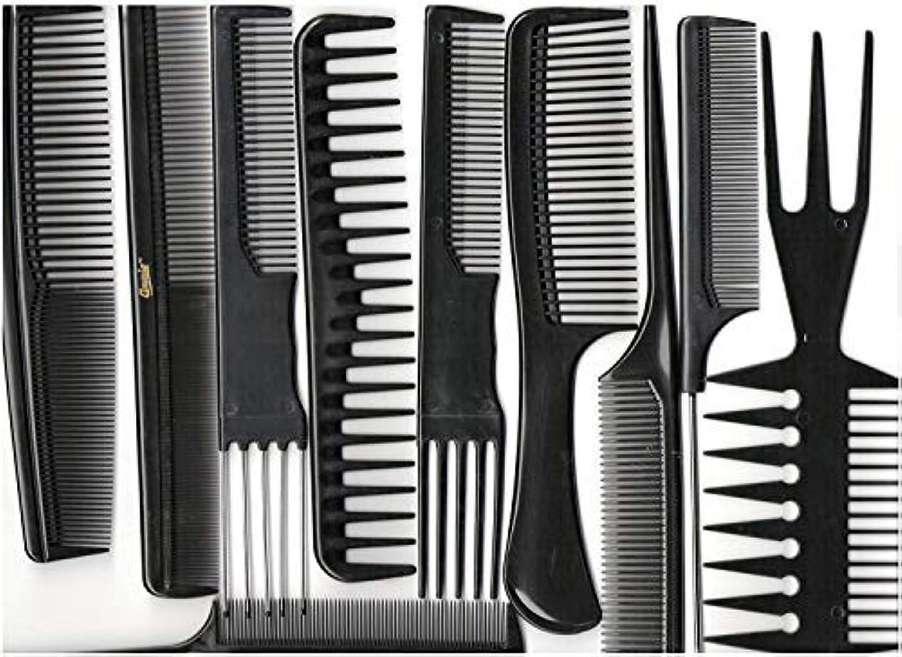 ライブ時計回り治世Annie Professional Comb Set 10Ct Black [並行輸入品]