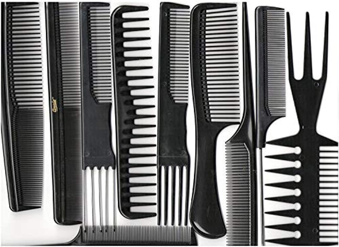 名義でむしゃむしゃ液体Annie Professional Comb Set 10Ct Black [並行輸入品]