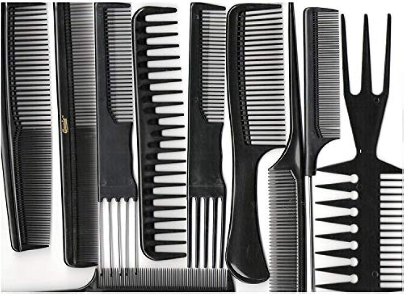 プランター不完全な現金Annie Professional Comb Set 10Ct Black [並行輸入品]