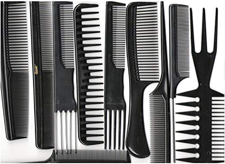 海賊傷跡貫通Annie Professional Comb Set 10Ct Black [並行輸入品]