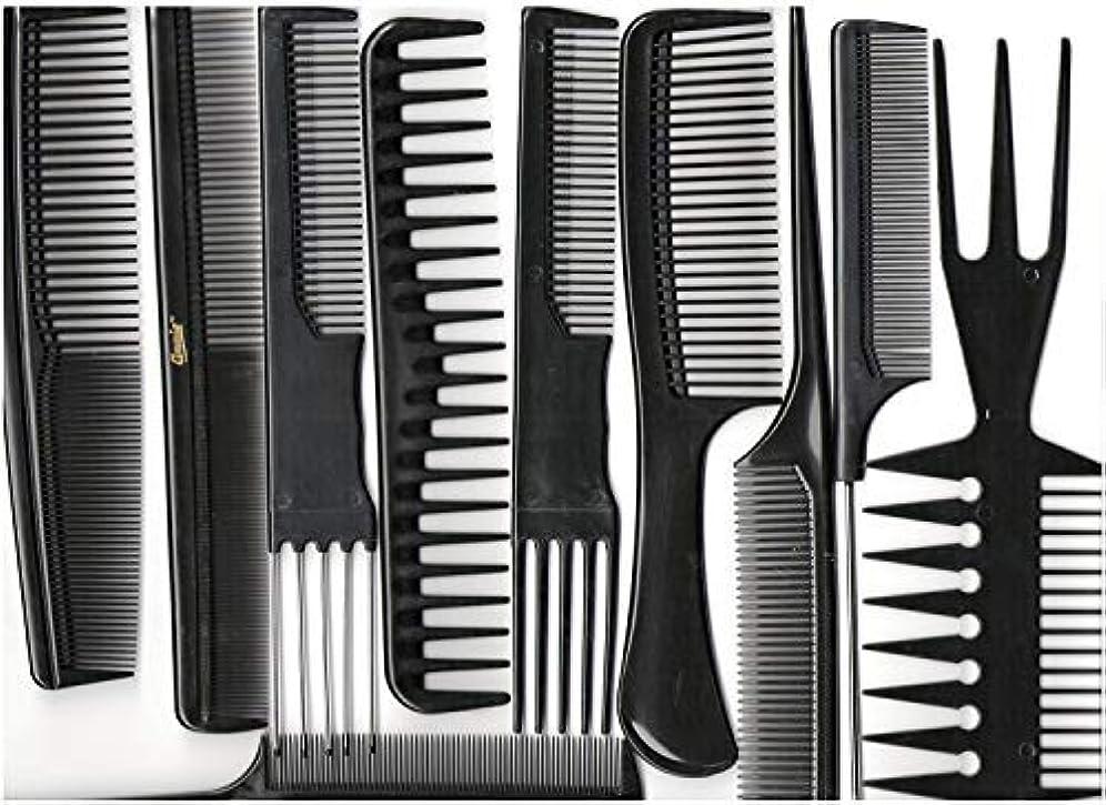 賃金船形同情的Annie Professional Comb Set 10Ct Black [並行輸入品]