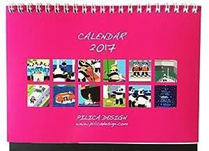 【PILICA DESIGN】パンダ船長 2017年 卓上カレンダー