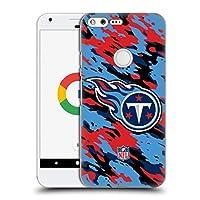 オフィシャル NFL カモフラージュ テネシー・タイタンズ ロゴ ハードバックケース Google Pixel