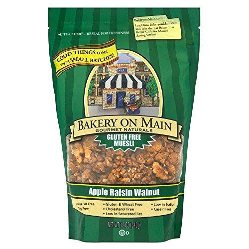 Bakery on Main Apple, Raisin & Walnut Gluten Free Granola (340g) メインリンゴ上のパン屋〜レーズンとクルミのグルテンフリーのグラノーラ( 340グラム)