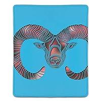 マウスパッド 明るいラムゾディアック牡羊座サイン ゲームパッド ゲームプレイマット