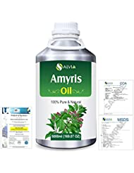 Amyris (Amyris balsamifera) 100% Natural Pure Essential Oil 5000ml/169fl.oz.