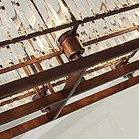 BFJP 8ライト クリスタル シャンデリア アンビエントライト 塗装仕上げ メタル クリスタル, ミニスタイル, 調整可 110-120V / 220-240V 電球付き:コーヒー