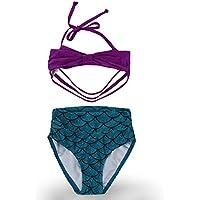OKIDSO ジュニア水着 ビキニ タンニキ 水着ワンピース セパレート スイムウェア ガールズ 女の子 上下セット UVカット 紫外線対策 日焼け防止 100-130CM 可愛い