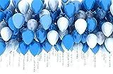 Doitsa 風船 バルーン 飾り付け 誕生日 バースデーパーティー 結婚式 アニバーサリー 20個入り 白+青