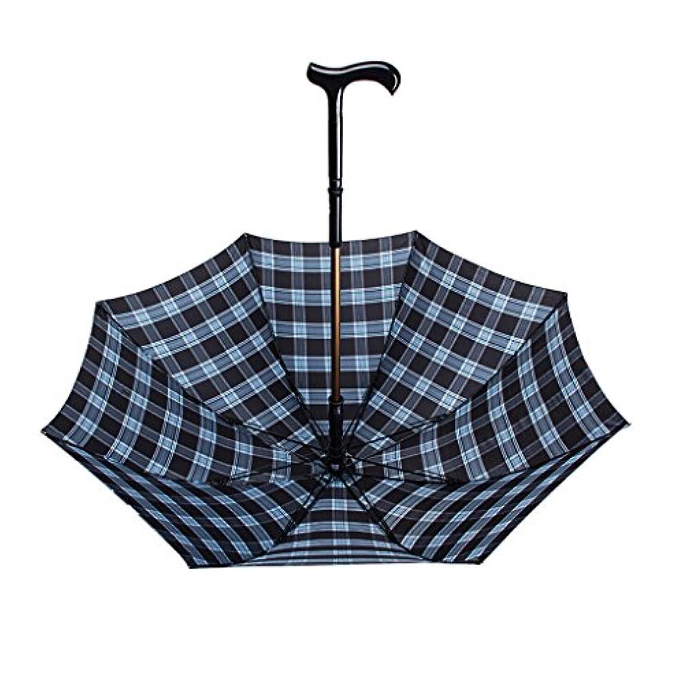農業一緒に木製ステッキ/松葉杖傘取り外し可能/日当たりの良い雨兼用/多機能登山用屋外旅行抗紫外線抗水軽量耐久性のある滑り止めハンドル滑り止めトップ補強