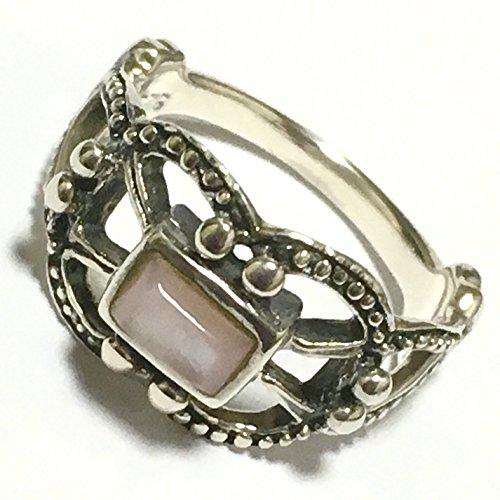 シルバー925 ピンキーリング 小指用 シルバーリング 銀製 指輪 3syaku ( サンシャク ) (ピンクシェル)