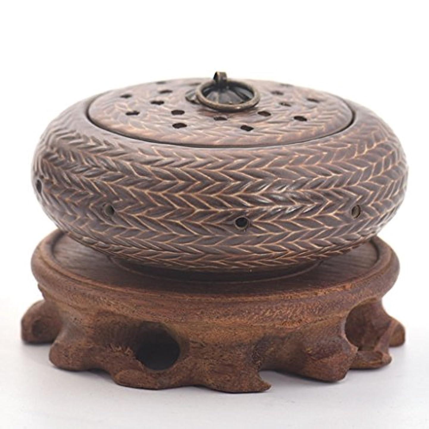 鎖引き出す荒涼とした(ラシューバー) Lasuiveur 陶磁器 香炉 香立て 線香立て お香立て
