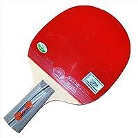 Outfun 卓球ラケット 卓球ボール ピンポン用 スポーツ 木材製 ラバー製 プラスチック製 レッド 2個セット