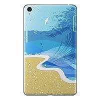 Qua tab QZ8 KYT32 スキンシール au エーユー タブレット tablet シール ステッカー ケース 保護シール 背面 人気 単品 おしゃれ その他 海 太陽 001407