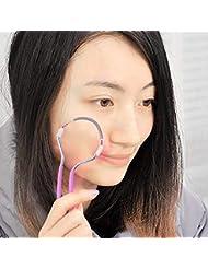 春の顔の毛の除去剤、滑らかな仕上げの顔の毛の除去剤、男性と女性のためのポータブル&効果的な手動脱毛器スティック。