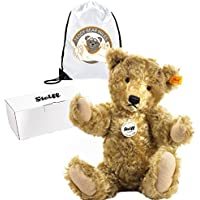 Collectable Authentic Steiff Classic 1920 Teddy Bear - 35 cm and Reusable Gift Bag - Adorable Plush Bear - Ladies Women Lady Woman Her - Get Well Soon Present Gift Idea - Suitable from 3+