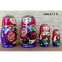 Russian Nesting Doll (Maidan) * 3 Pcs / 4 in * mdn-3.4.11-5