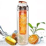 AVOIN colorlife フィルター付きTritanプラスチックフルーツウォーターボトル(800ml)カラバリ豊富