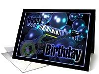 ギター&キーボードon誕生日カードで空白の内側
