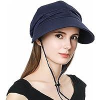 (シッギ) Siggi 99%UVカット帽子 サイズ調節可 取り外すあご紐 小顔効果 折りたため レディース 大きいサイズ