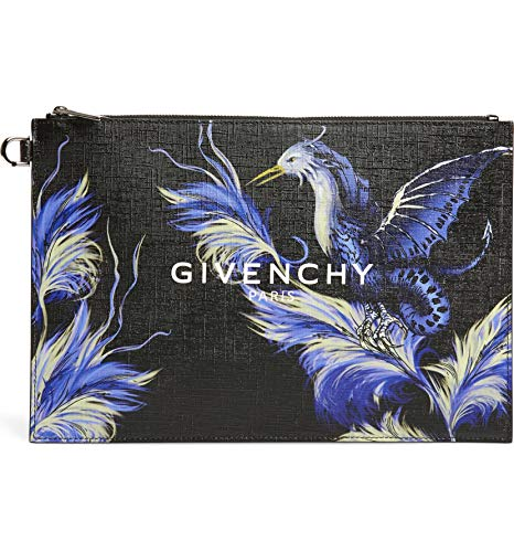 [ジバンシー] レディース クラッチバッグ Givenchy Medium Black Feather Bird Faux [並行輸入品]