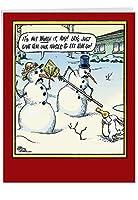 ステムセルクリスマスJoke Greeting Card 1 Jumbo Christmas Card & Enve. (J5853XSG)